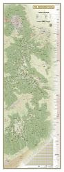Colorado Trail Wall Map - Laminated (18 x 48 inches) by National Geographic Maps
