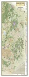 Continental Divide Trail Wall Map (18 x 48 inches) by National Geographic Maps