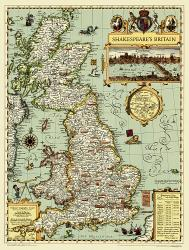 Shakespeare's Britain Wall Map (19.25 x 25.5 inches) (Tubed) by National Geographic Maps