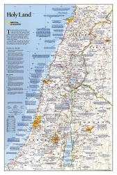Holy Land Classic Wall Map (22.25 x 33 inches) (Tubed) by National Geographic Maps