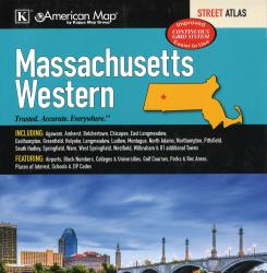 Massachusetts, Western, Street Atlas by Kappa Map Group