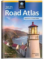 2021 USA Road Atlas with Protective Vinyl Cover by Rand McNally