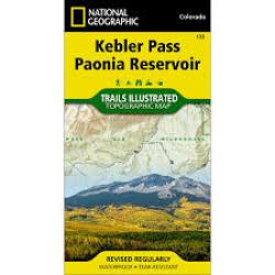 Kebler Pass and Paonia Reservoir, Colorado, Map 133 by National Geographic Maps