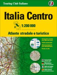 Italy, Central Road Atlas by Touring Club Italiano