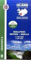 Gullfoss & Geysir hiking map by Mal og menning