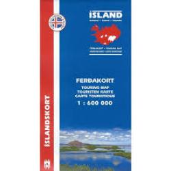 Iceland Touring Map by Mal og menning