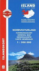 Northwest Iceland Map by Mal og menning