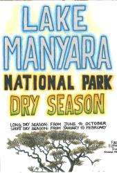 Lake Manyara Tarangire National Park, Tourist Map 1:200.000 by Harms IC Verlag