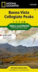 Buena Vista and Collegiate Peaks, Colorado, Map 129 by National Geographic Maps