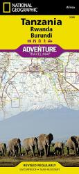 Tanzania, Rwanda, and Burundi Adventure Map 3206 by National Geographic Maps