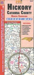 Hickory : Catawba County, North Carolina : street map by Map Supply, Inc.
