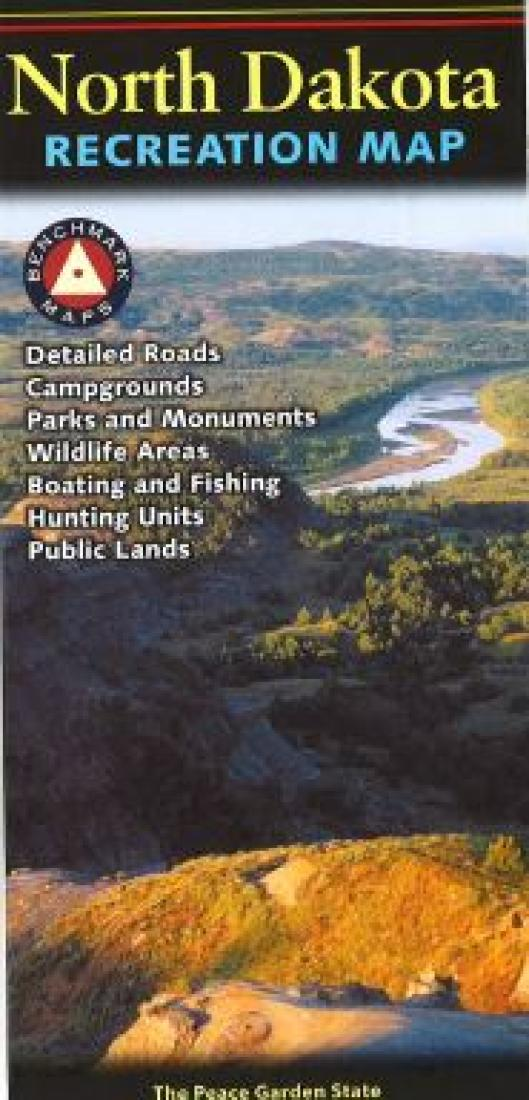 North Dakota Recreation Map by Benchmark Maps on map of north georgia campgrounds, map of north dakota casinos, map of north dakota airports,