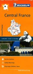 Central France, Michelin Regional Map by Michelin Maps and Guides