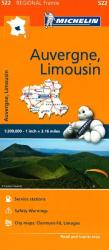 Auvergne and Limousin (522) by Michelin Maps and Guides