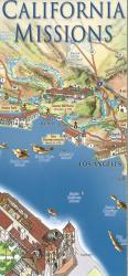 California Missions Map by East View Press