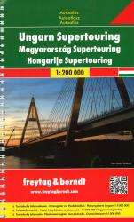 Hungary, Supertouring Atlas by Freytag, Berndt und Artaria