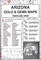 Arizona, Gold and Gems, 5-Map Set, Then and Now by Northwest Distributors