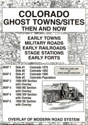 Colorado, Ghost Towns, 6-Map Set, Then and Now by Northwest Distributors