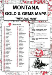 Montana, Gold and Gems, 5-Map Set, Then and Now by Northwest Distributors