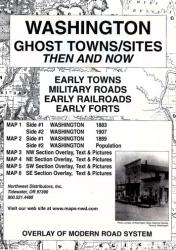 Washington, Ghost Towns, 6-Map Set, Then and Now by Northwest Distributors