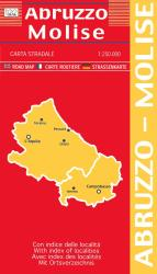 Abruzzo and Molise, Italy by Litografia Artistica Cartografica