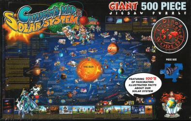 Dino's Solar System, 500 Piece Puzzle by Dino Maps