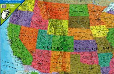 United States, Political, Desk Pad by Maps International Ltd.