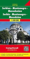 Serbia, Montenegro, and Macedonia by Freytag-Berndt und Artaria