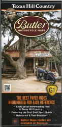 Texas Hill Country Map by Butler Motorcycle Maps
