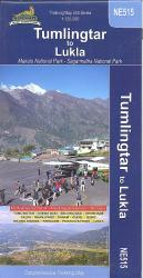 Tumlingtar to Lukla Comprehensive Trekking Map by Himalayan MapHouse Pvt. Ltd