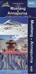 Mustang to Annapurna, Nepal Trekking Map NA520 by Himalayan MapHouse Pvt. Ltd