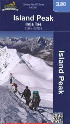 Island Peak, Nepal Climbing Map by Himalayan MapHouse Pvt. Ltd