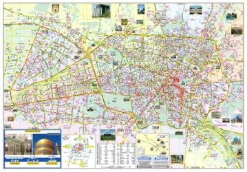 Tourist Map of Mashhad City by Shirkat-i Gita Shinasi