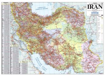 Map of Islamic Republic of Iran by Shirkat-i Gita Shinasi