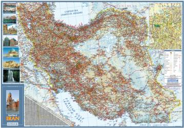 Road Map of Iran by Shirkat-i Gita Shinasi