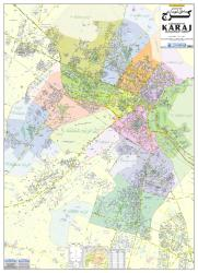 Guide Map of Karaj Municipality Areas by Shirkat-i Gita Shinasi