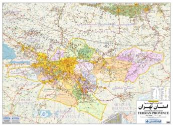 Administrative Map of Tehran Province by Shirkat-i Gita Shinasi