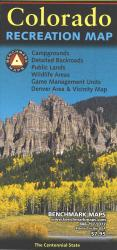 Colorado Recreation Map by Benchmark Maps