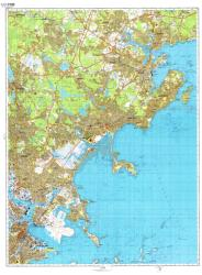 Boston, Massachusetts, Cold War Map, Sheet 2 of 4 by USSR Ministry of Defense