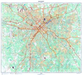 Charlotte, North Carolina, Cold War Map by USSR Ministry of Defense