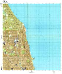 Chicago, Illinois, Cold War Map, Sheet 2 of 7 by USSR Ministry of Defense