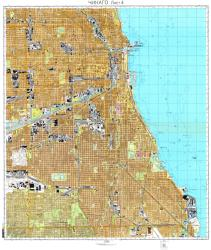 Chicago, Illinois, Cold War Map, Sheet 4 of 7 by USSR Ministry of Defense