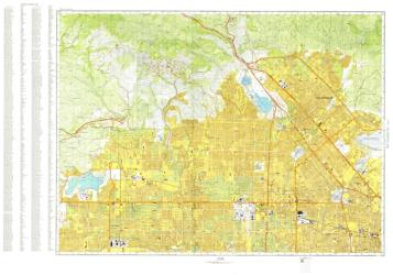 Los Angeles, California, Cold War Map, Sheet 1 of 12 by USSR Ministry of Defense
