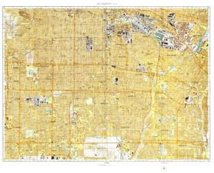 Los Angeles, California, Cold War Map, Sheet 8 of 12 by USSR Ministry of Defense