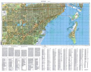 Miami, Florida, Cold War Map, Sheet 2 of 2 by USSR Ministry of Defense