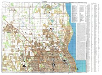 Milwaukee, Wisconsin, Cold War Map, Sheet 1 of 2 by USSR Ministry of Defense