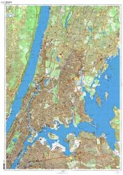 New York, New York, Cold War Map, Sheet 3 of 8 by USSR Ministry of Defense