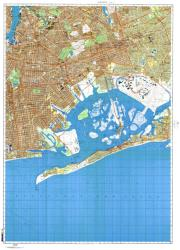 New York, New York, Cold War Map, Sheet 7 of 8 by USSR Ministry of Defense