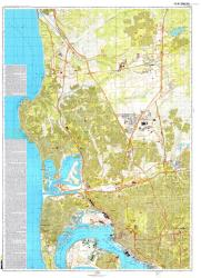 San Diego, California/Tijuana, Mexico, Cold War Map, Sheet 1 of 4 by USSR Ministry of Defense