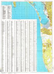 San Diego, California/Tijuana, Mexico, Cold War Map, Sheet 3 of 4 by USSR Ministry of Defense